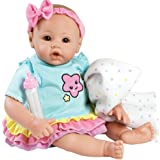 Adora BabyTime Rainbow Weighted Girl Vinyl Baby Doll with Soft Body, Play Toy Gift Set Ensemble Includes Bottle and Blanket, 16-inch (Ages 3+)