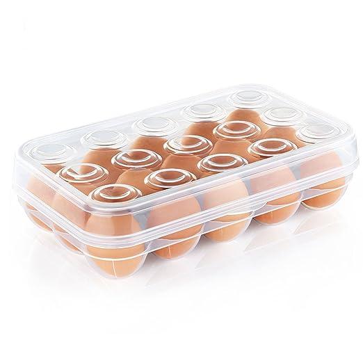 Levoberg Caja de Huevos Anti Choque plástico almacenaje ...