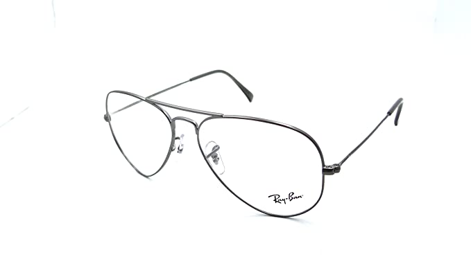 db8dc4eae516 Image Unavailable. Image not available for. Colour: Ray-Ban Rx Eyeglasses  Frames Rb 6049 2620 55x14 Matte Gunmetal Aviator