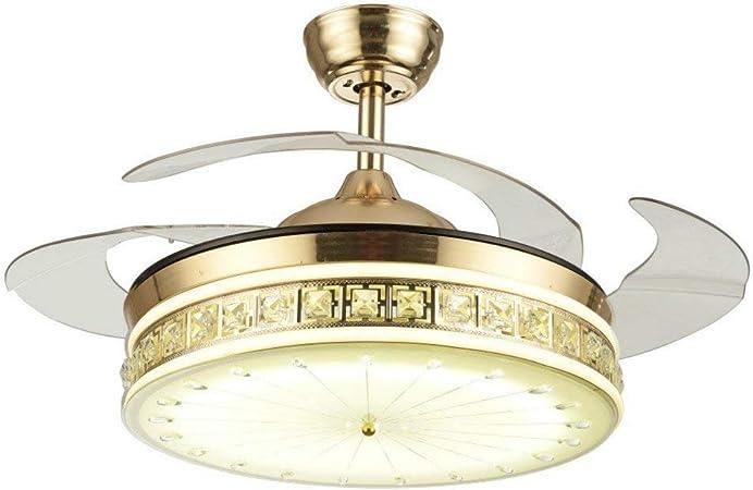 Grupos de iluminación LED invisible Crystal ventilador de techo ...