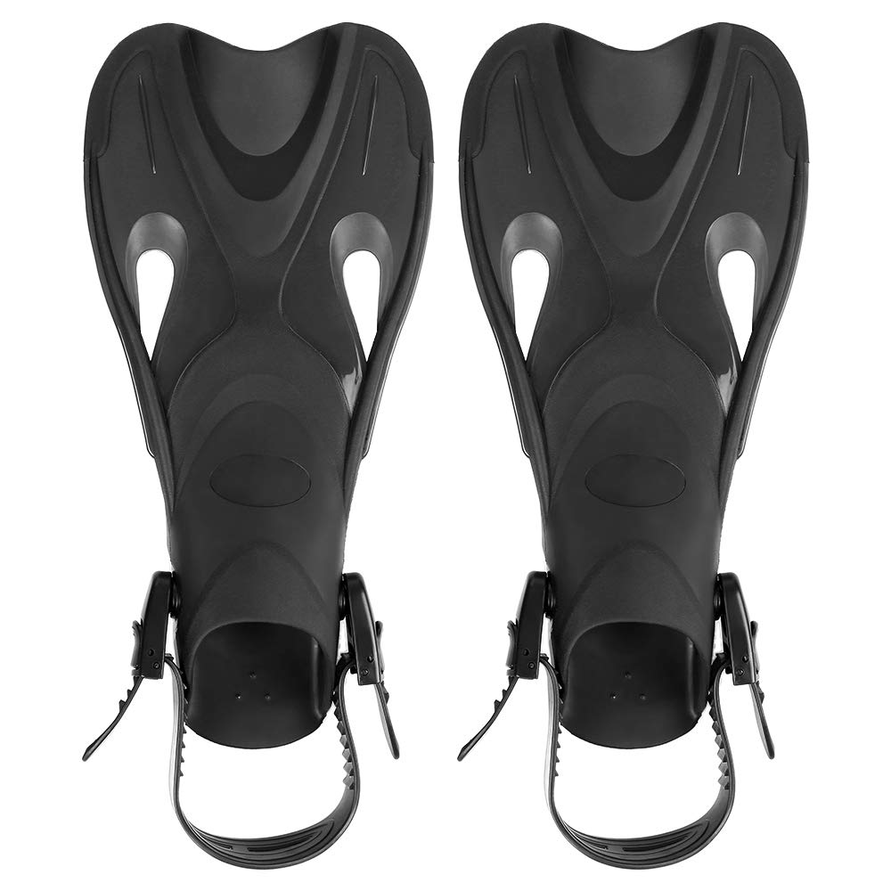 Godyluck Light Pinne Corte Leggere e Potenti per Nuoto e Snorkeling Pinna Corta per Nuoto in Piscina Attrezzatura Subacquea per Adulti e Bambini Nero//Blu//Rosso//Giallo