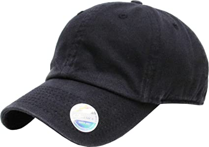 KBE-PG-Classic BLK Pigment Washed Cotton Dad Hat Baseball Cap Polo Style 6f8cd4089ef