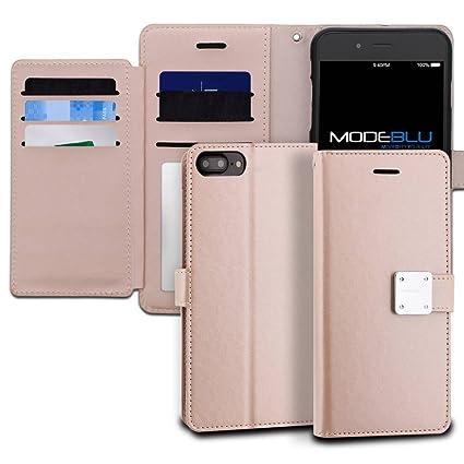 Amazon.com: iPhone 7 Plus Caso, modeblu Wallet Case ID ...