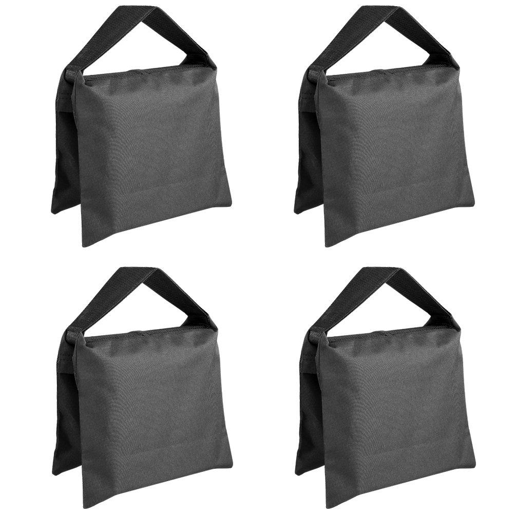 Neewer Set of Four Black//Yellow Heavy Duty Sand Bag Photography Studio Video Stage Film Sandbag Saddlebag for Light Stands Boom Arms Tripods