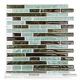 "Fertel Peel and Stick Self-Adhesive Backsplash Tile for Bathroom and Kitchen, 10.5"" X 10"", Pack of 10"