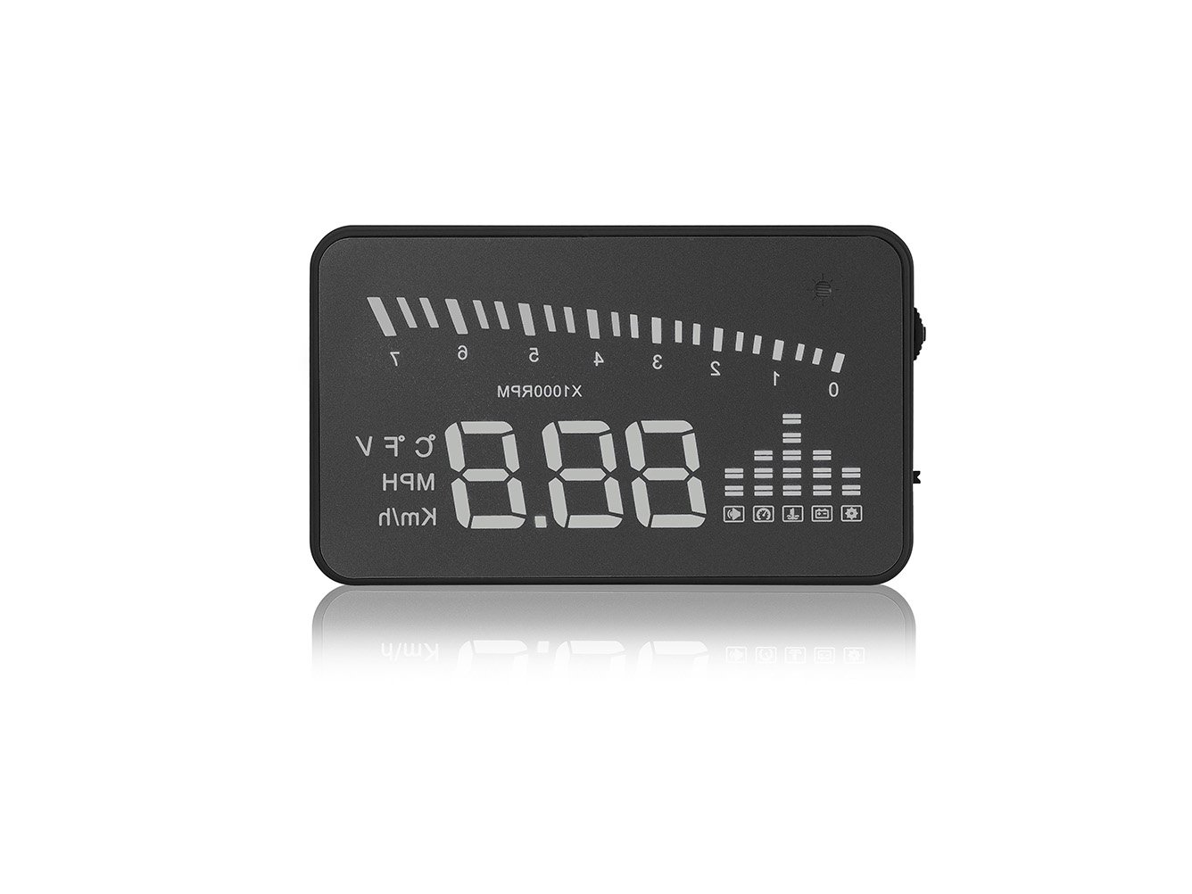 Arpenkin Hud X5 Obd2 3 Universal Multi Function Vehicle 03 Tahoe Wiring Diagram Mounted Heads Up Display For Cars Windshield Compatible With Obd Ii Eobd System Model