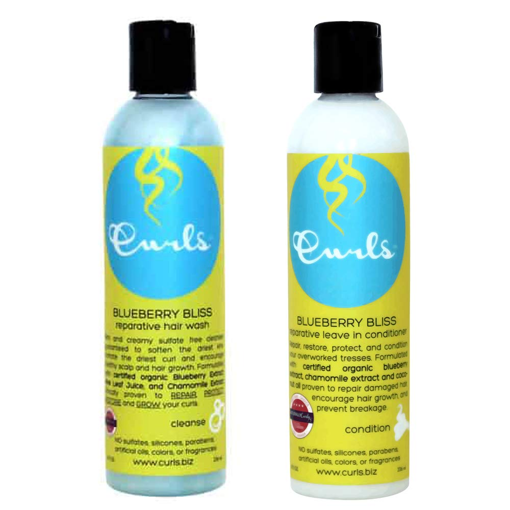 Curls Blueberry Bliss Reparative Hair Wash & Leave-In Conditioner 8oz Duo