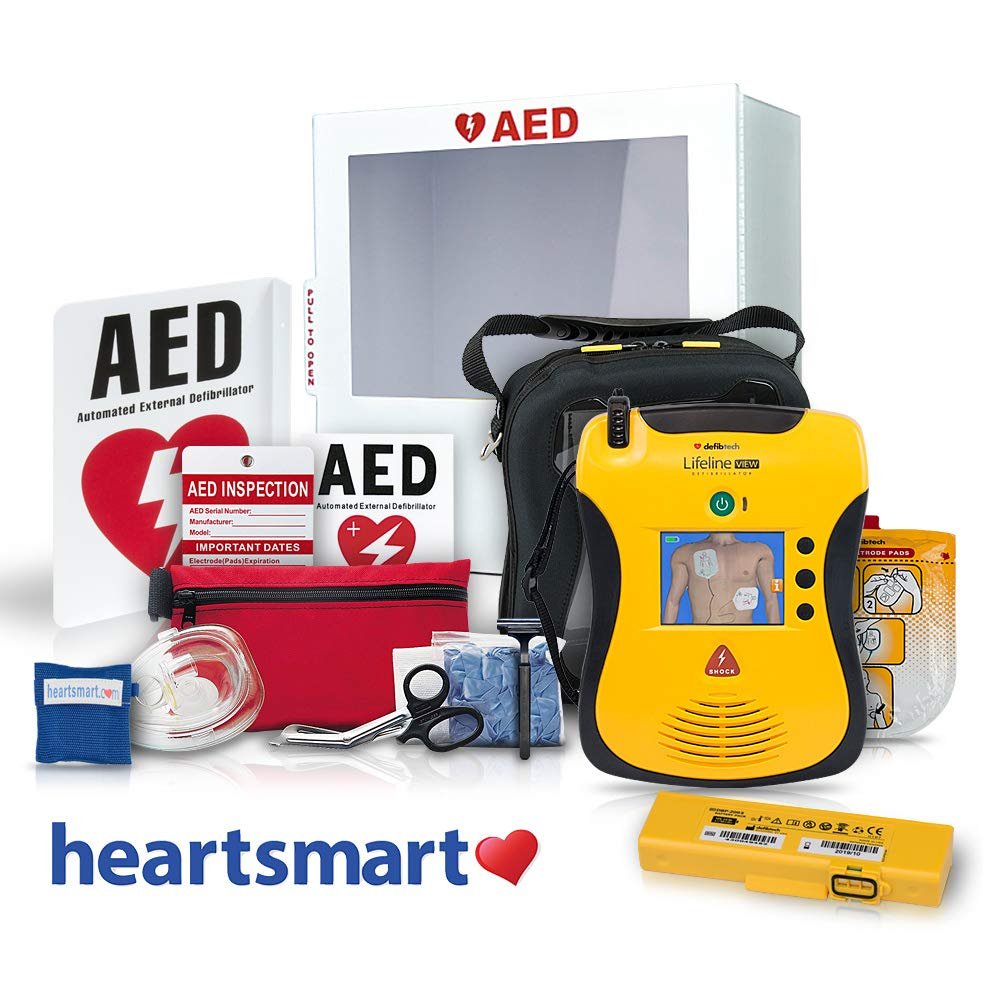 Heartsmart's AED for Business Defibrillator Package - Lifeline View Heartsmart.com