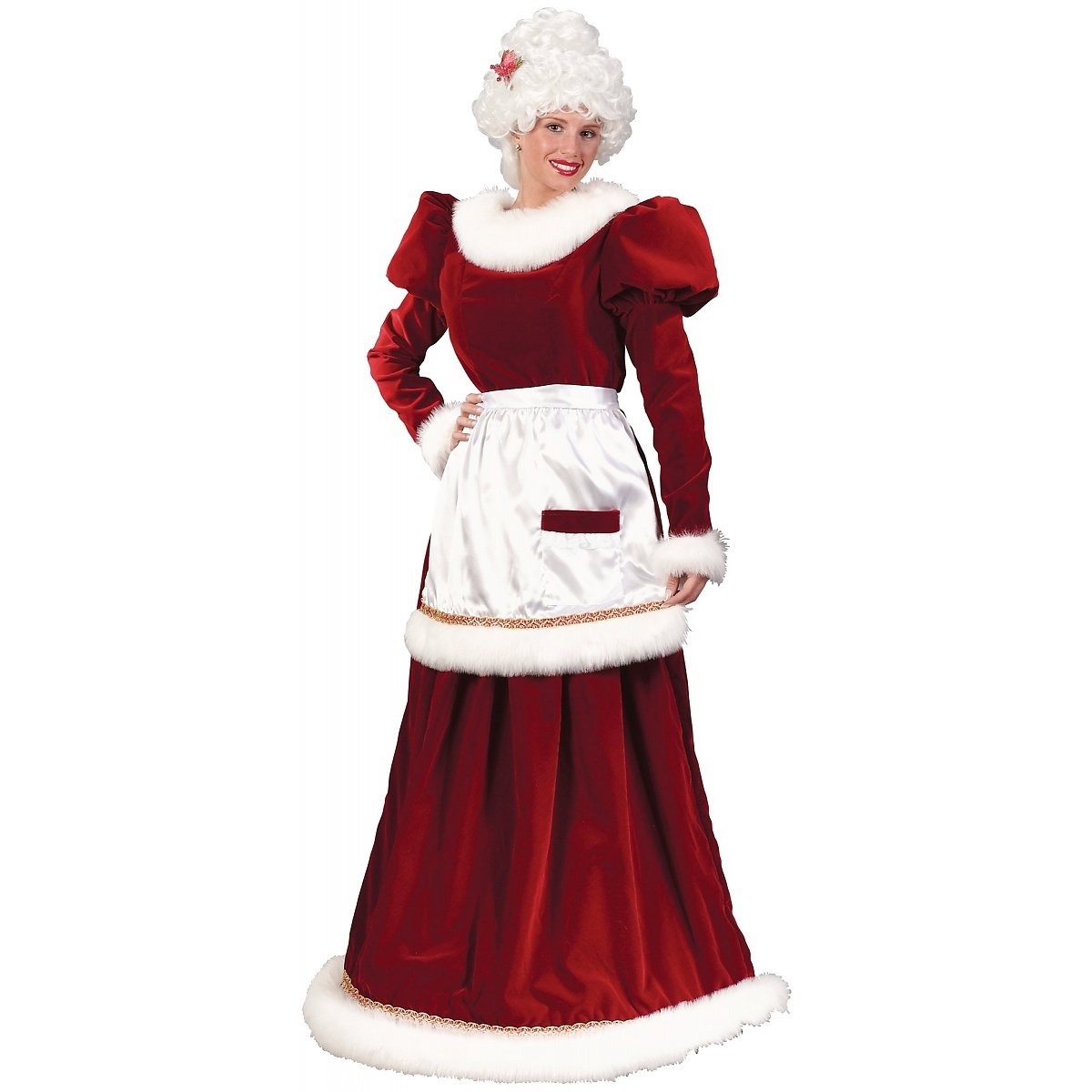 Amazon.com Fun World Costumes Womenu0027s Velvet Mrs. Santa Dress Adult Costume Clothing  sc 1 st  Amazon.com & Amazon.com: Fun World Costumes Womenu0027s Velvet Mrs. Santa Dress Adult ...