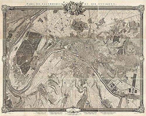 Paris Map, Vintage map paris, Old Map of Paris