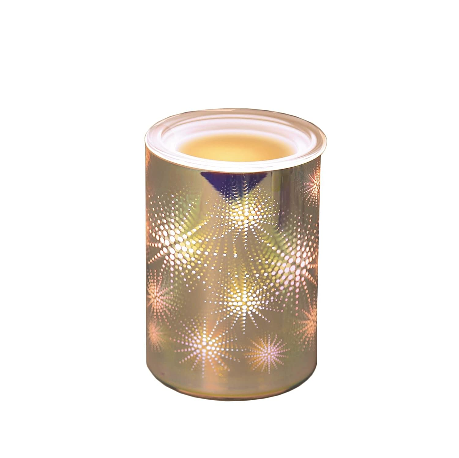 Aroma Accessories 3D Star Burst Design Mirror Glass Straight Electric Melt Burner AR1122 Aromatize