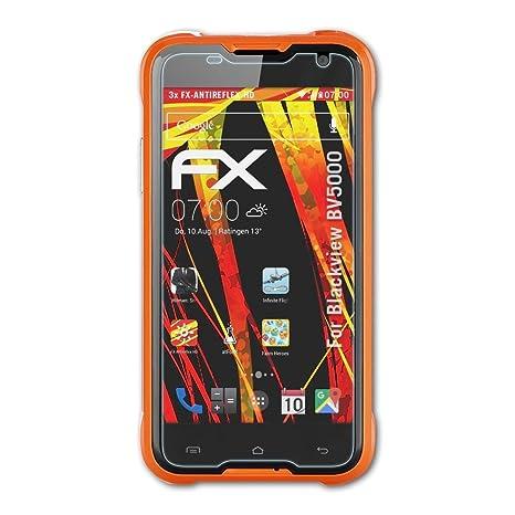 atFolix Schutzfolie kompatibel mit Blackview BV5000 Displayschutzfolie, HD-Entspiegelung FX Folie (3X)