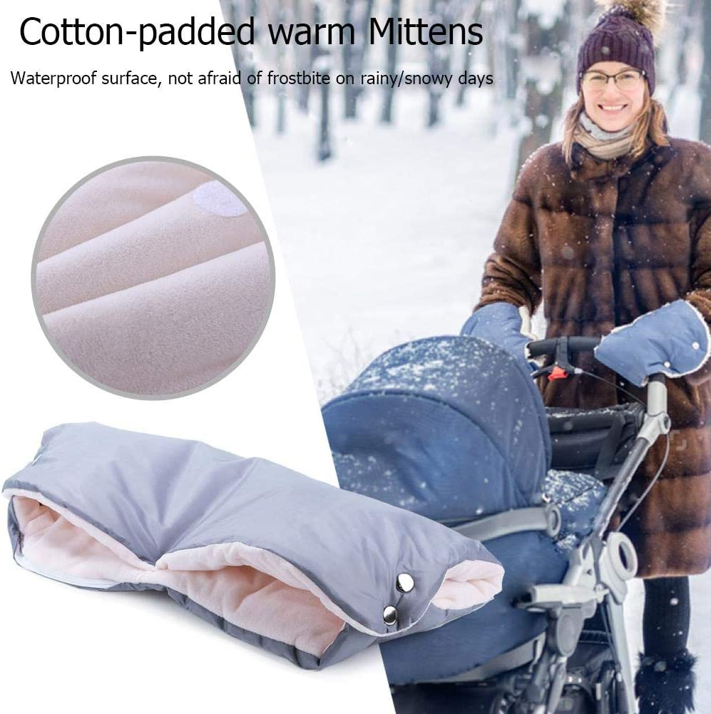 Beige Taoytou Winter Stroller Mittens Hand Cover Buggy Muff Glove Accessories