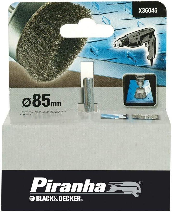 Eje de 6 mm Hilo fino Black+Decker X36045-XJ Uso en metal. Cepillo de copa /ø 85 mm