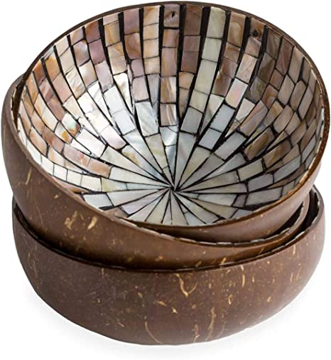 Coconut Husk with a Gold and Silver Lining