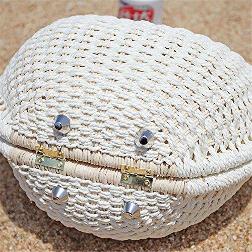 Messenger main de vintage tressé Coque Sac Sac Onemoret main Rétro Sac en plage rotin Sac à à Paille Hacv6P