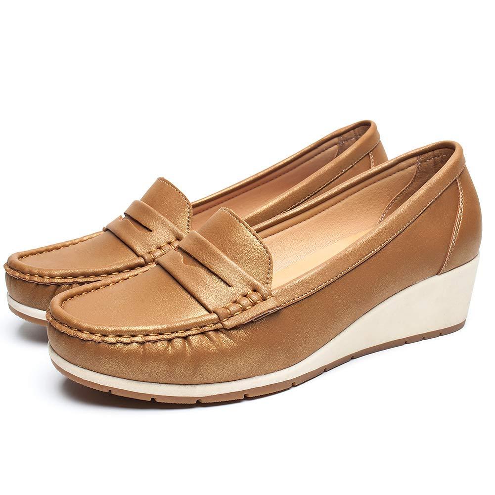 Chaussures Camel4 Chaussures Plates Noir Cuir pour pour Femmes - Cendfini Mesdames Compensee Mocassin Confortables, avec des Attaches en Métal à la Mode Chaussures, Convient pour Toutes Les Saisons Camel4 4e4ba8d - reprogrammed.space