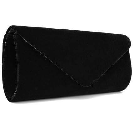 U-Story Women s Evening Wedding Party Velvet Envelope Clutch Bag Tote Purse  Handbag (Black)  Amazon.ca  Luggage   Bags 0610d6bf2ae75