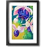 ホームデコレーション アートパネル スズラン 現代壁の絵 キャンバス絵画 インテリア 木枠付きの完成品 絵画 軽くて取り付けやすい (木枠付22x33 Cm)