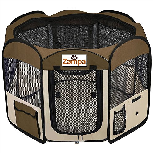 Cheap Pet 45″ Playpen Foldable Portable Dog/Cat/Puppy Exercise Kennel For Small medium Large. The Best Indoor And Outdoor Pen. With Cary Bag. Easily Sets Up & Folds Down & Space Free
