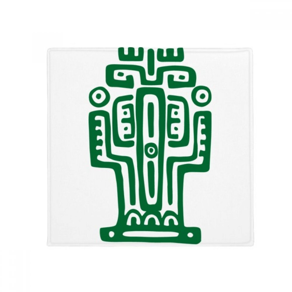 DIYthinker Mexico Totems Ancient Civilization Cactus Anti-Slip Floor Pet Mat Square Home Kitchen Door 80Cm Gift