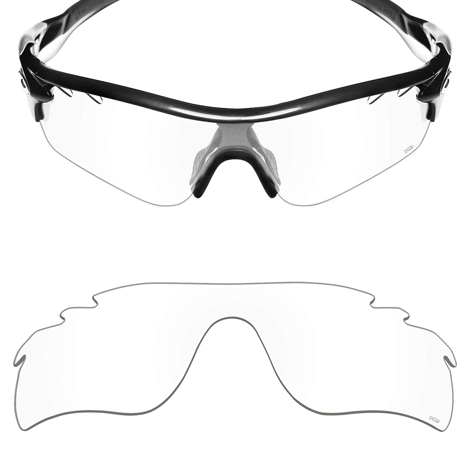 a10c86dd3c88 Amazon.com  Mryok+ Polarized Replacement Lenses for Oakley RadarLock Path  Vented - HD Clear  Clothing