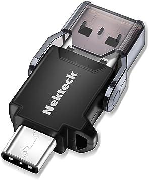 Amazon.com: nekteck USB Type C OTG Micro lector de tarjetas ...