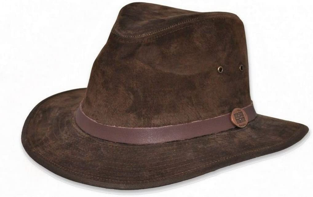 EUREKA Stockade Madrid Leather Fedora Hat