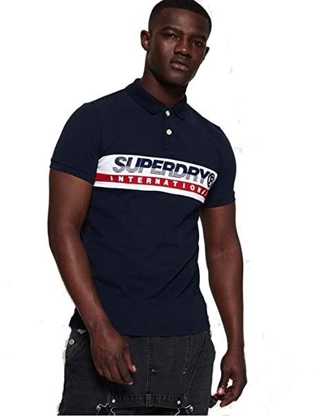 Superdry Polo International Chest Marino: Amazon.es: Ropa y accesorios