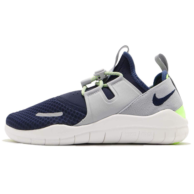 Nike Boy's Free RN Commuter 2018 Running Shoe, Midnight Navy/Obsidian-Wolf Grey, 6.5Y