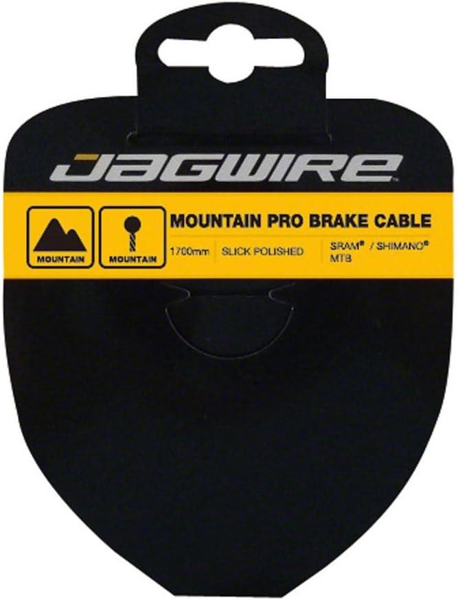 Negro Talla /única Jagwire Mountain Brake Cable-Pro Polished Slick Stainless-1.5x1700mm-SRAM//Shimano Piezas de Repuesto para Adulto Unisex