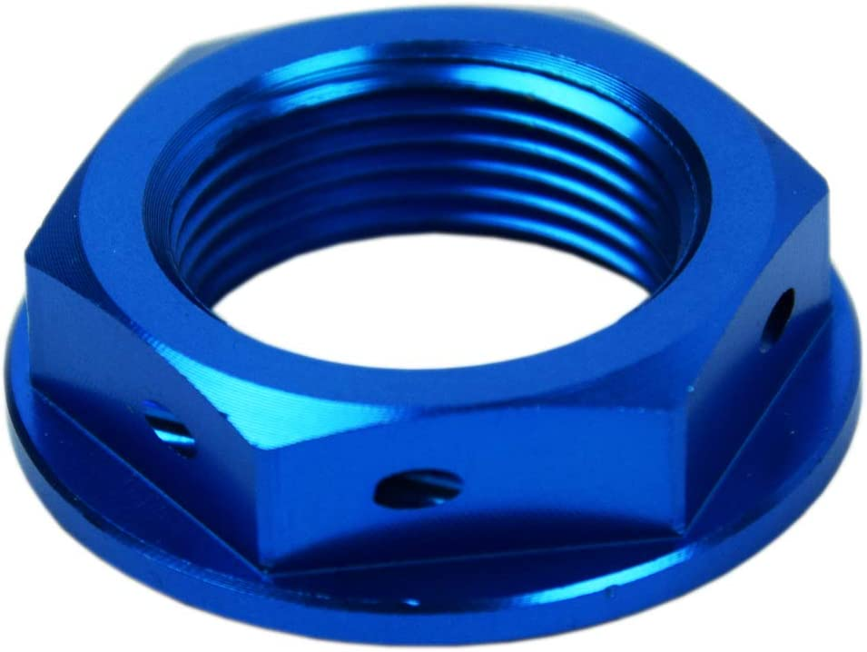 Scar Steuerkopfmutter Kompatibel Mit Yamaha Yz Yz F Yz X Yz Fx Wr F 125 250 450 94 21 Blau Auto