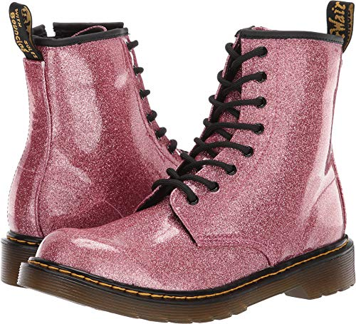 (Dr. Martens Kid's Collection Girl's 1460 Glitter Stars Delaney Boot (Big Kid) Pink Glitter Stars Pu 5 M UK)