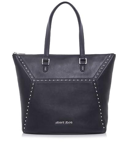 19d32c0cc53 Armani Jeans Sac fourre-tout simili cuir Noir  Amazon.fr  Chaussures ...