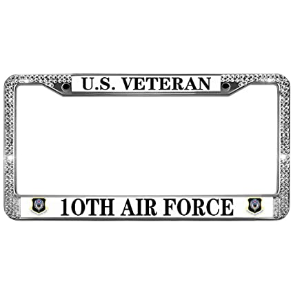 Amazon.com: GND Diamond License Plate Frame,10TH AIR Force Bling ...