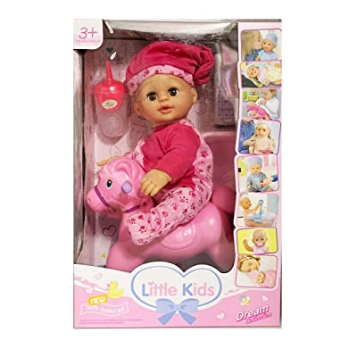 """MTT Realistic New Born Baby Doll Potty Baby: Doll That """"Pees"""" on Her Potty Toy Rocking Horse: Toys & Games"""