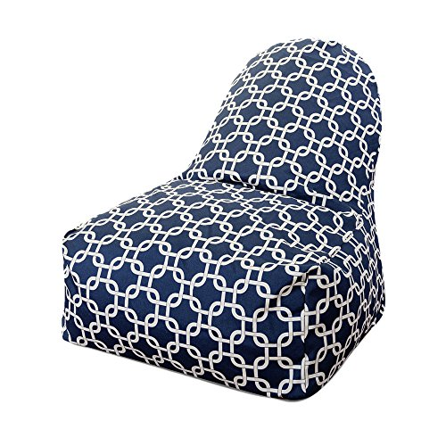 Majestic Home Goods Links Kick-It Chair, Navy Blue ()
