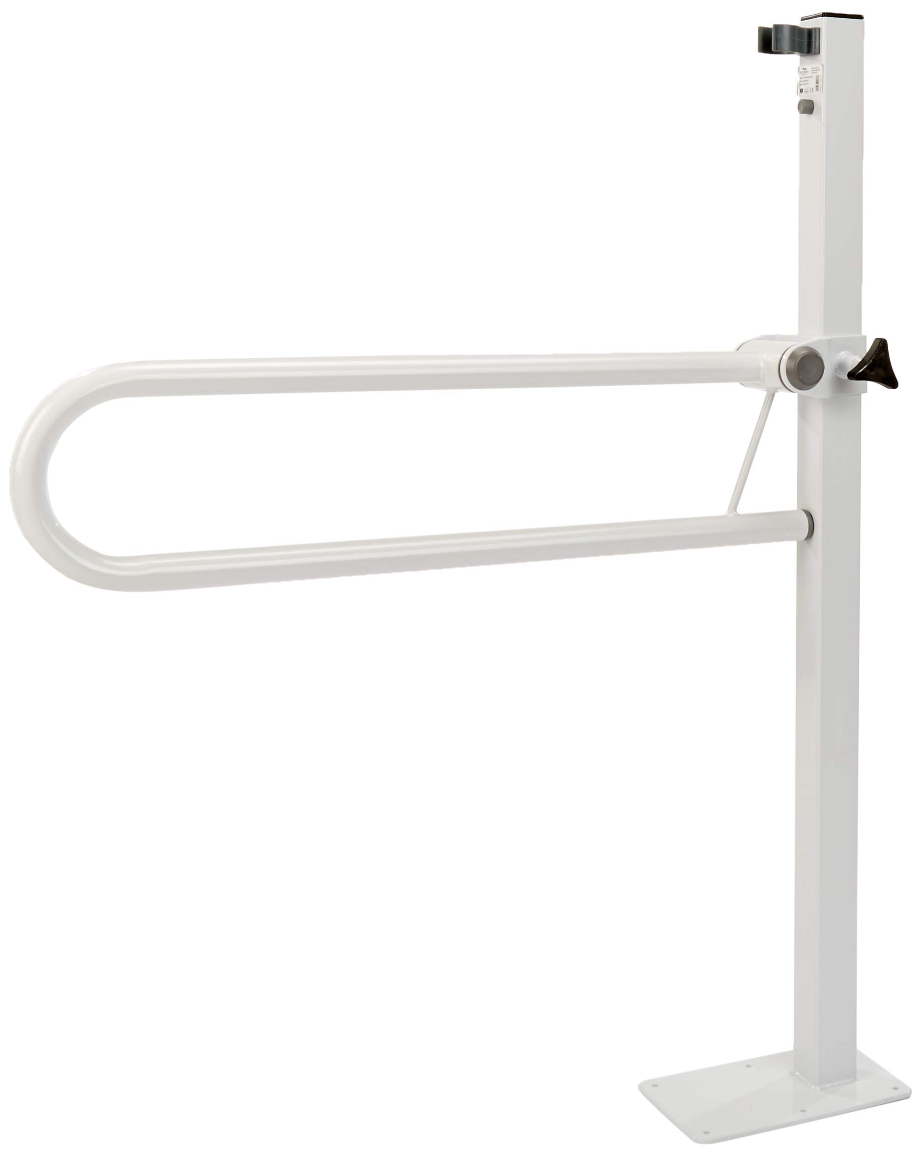 Homecraft Devon Floor-Mounted Folding Rail, Bathroom Aid for Elderly, Handicapped, Disabled users, Bathroom Grab Bar for Stability and Control, Safety Support Handrail for Lavatory and Bathroom