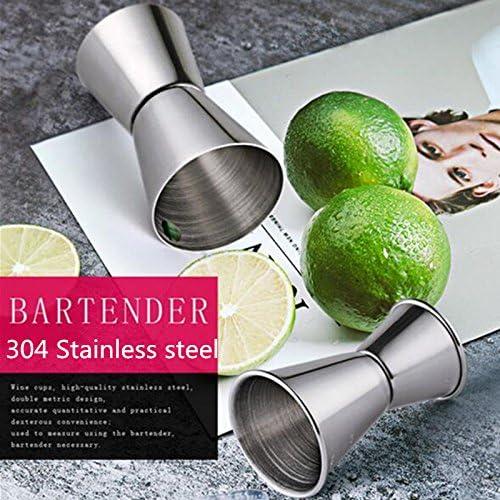Edelstahl Cocktail-Stößel, Rührlöffel, Jigger Set, Bar Werkzeug-Set für Bar Party Wein Cocktail Drink Shaker