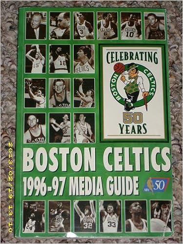 Boston Celtics 1996 97 Media Guide Celebrating 50 Years David