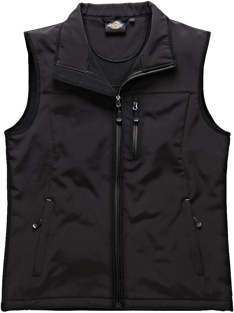 Dickies Mens Workwear Kenton Softshell Gilet Black BW7001B