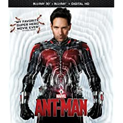 Marvel's Ant-Man on Blu-ray 3D, Blu-ray, DVD and Digital HD
