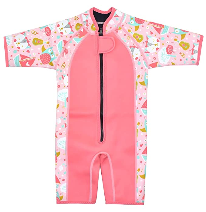 Splash About - Traje de Neopreno Corto para niñas: Amazon.es: Ropa ...