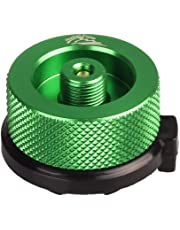 Lixada Gas Cartridge Head Conversion Adapter Nozzle Bottle Type Input Screw Type Lindal Valve Output