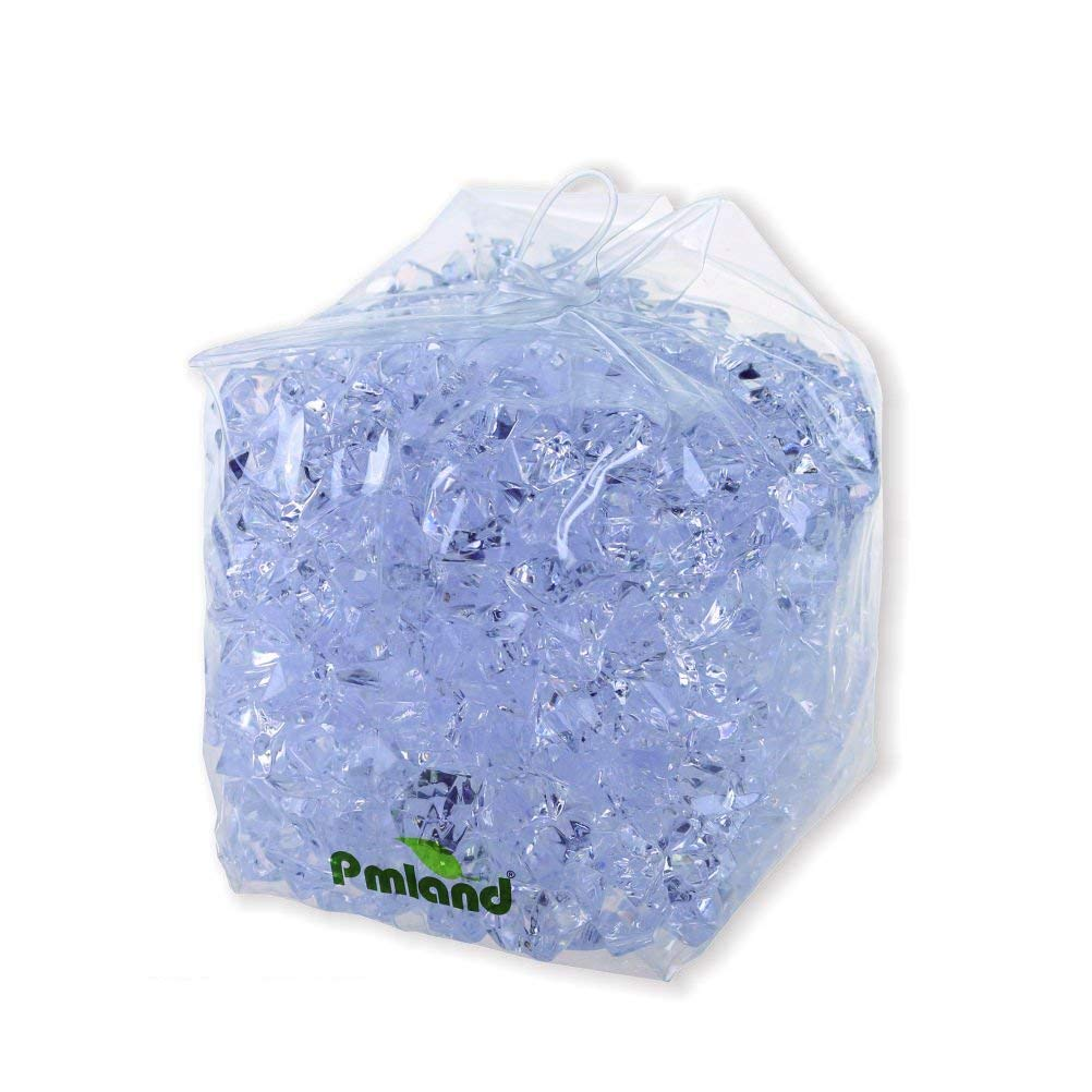 PMLAND Acrylic Ice Rock Cubes 2 Lbs Bag, Vase Filler or Table Decorating Idea-Clear