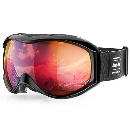 Gafas de Esquí Portadores de Gafas Protección Anti-Vaho Anti-Arañazos/Niebla UV400