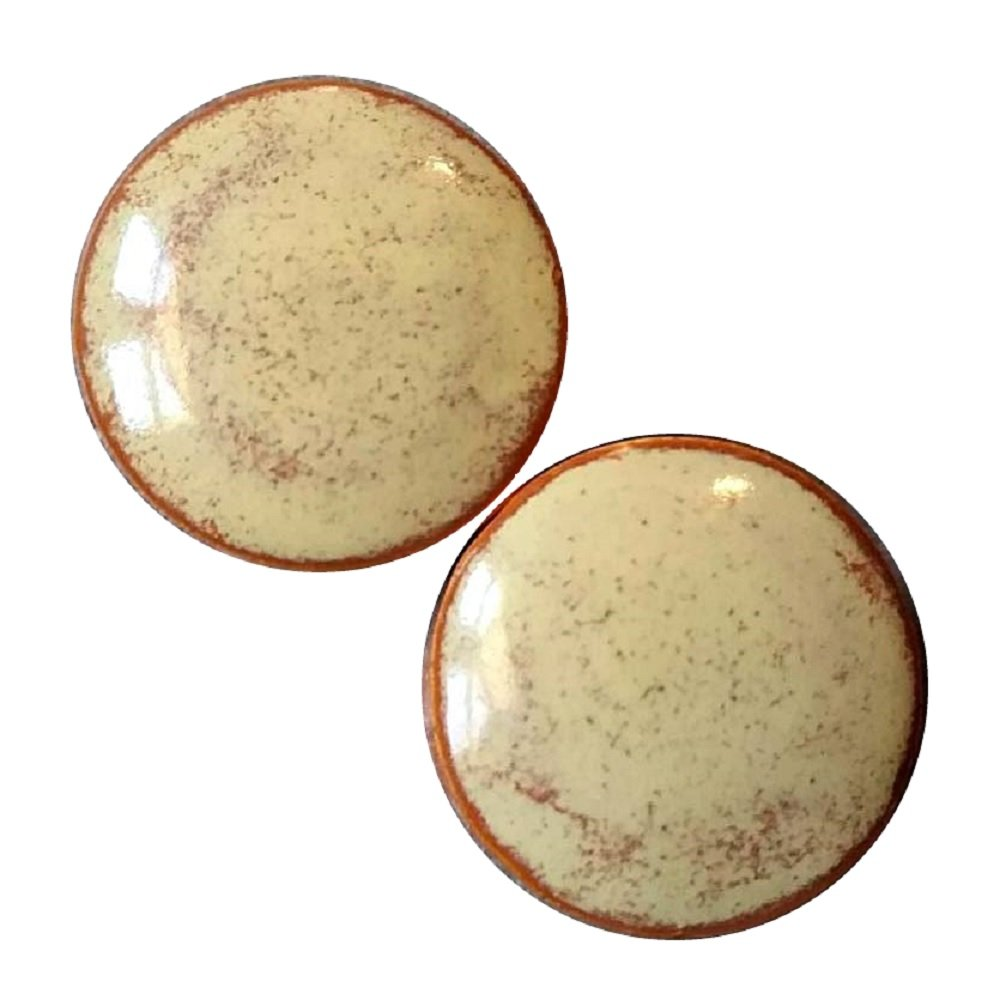 Pair - Sahara Sands Glass Ceramic Ear Plugs Organic Handmade double-flared gauges Essential Oil Diffuser (10mm 00g) by Imperial Plugs