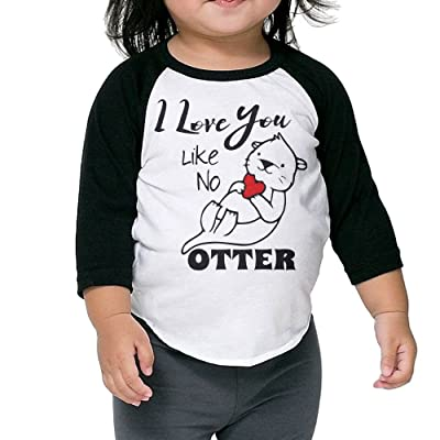 SH-rong I Love You Like No Otter Toddler 3/4 Sleeve T-shirt