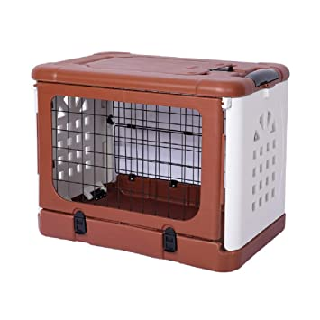 BTPDIAN Jaula Plegable para Perros con Jaula para Gatos con Jaula para Mascotas (Color : Brown): Amazon.es: Hogar