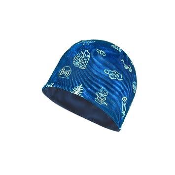 Buff - Gorro de Acampada para niños, Talla única, Color Azul ...